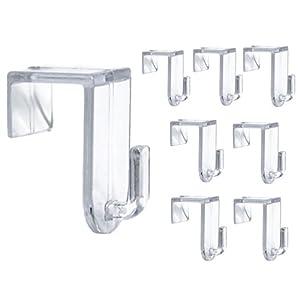 Bada Bing Fensterhaken 8er Set – Transparente Türhaken – Robuste und praktische Haken – Für jede Rahmenfarbe – Stabile…