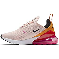 Nike W Air Max 270, Chaussures d'Athlétisme Femme, Multicolore (Washed Coral/Black/Laser Fuchsia 000), 40.5 EU