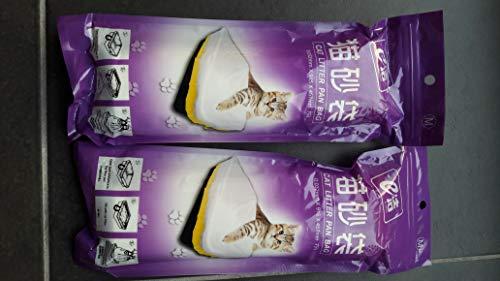 Moliwen Forro para Bandeja de Arena para Gatos con Bolsa con Cordón 3 Paquetes (21 Bolsas), 91.5 × 45.7 cm,Adecuado para Botes de Basura Medianos y Grandes, Obtenga 1 Rollo Adicional Bolsa de Basura