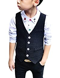 Zhuhaitf Mode 2 Piece Kids Children School Suit for Boys Boys Formal Wedding Blazer Suit Boys Suit Party Tuxedos 4118
