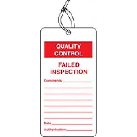 Caledonia signos 59777no inspección QC etiqueta (Pack de 10)