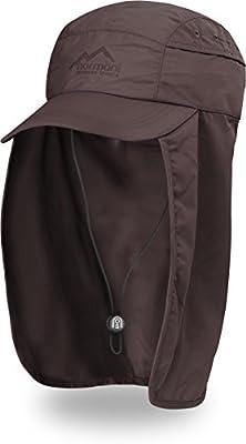 Erwachsenen Schirmmütze Legionärskappe mit Nackenschutz für Outdooraktivitäten UVP 40+ [55-65]
