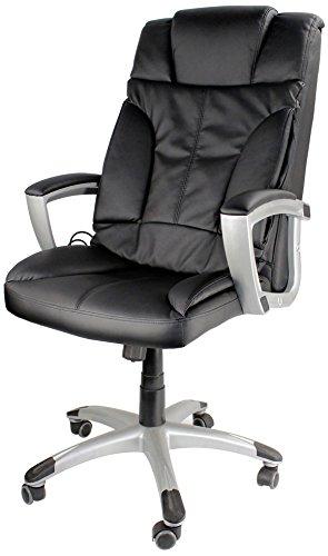 Tiga Bürostuhl mit Massagefunktion, Shiatsu Chefsessel, Relax Bürosessel mit 3 Massagearten,...