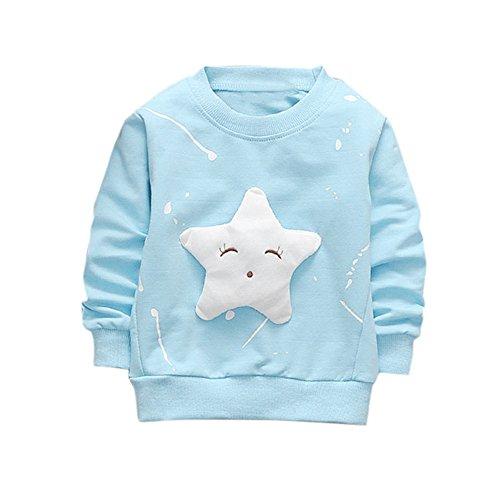 Hirolan Neugeborenes Säugling Baby Jungen Star Drucken Tops + Hosen Outfits Baggyjeans Pullover & Strickjacken Sweatshirts Hosen Babykleidung Krabbelhosen (Blau 2, 70)