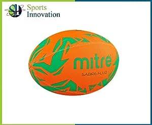 Mitre Sabre Ballon de Rugby Orange Fluo–Taille 3