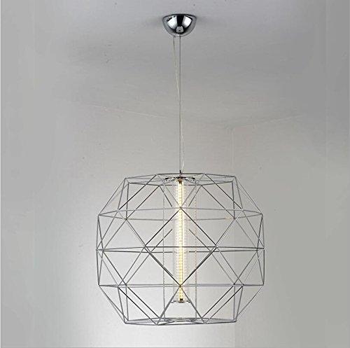 Suspensions Nordique bar lustres post - moderne minimaliste restaurant lampe salon chambre diamant polygone LED personnalité créative lampe, 4