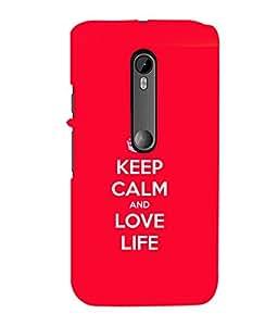 printtech Keep Calm Quotes Back Case Cover for Motorola Moto G3::Motorola Moto G (3rd Gen)