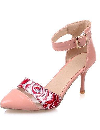 WSS 2016 Chaussures Femme-Habillé-Noir / Rose / Blanc / Or / Amande-Talon Aiguille-Bout Pointu-Talons-Similicuir pink-us8 / eu39 / uk6 / cn39