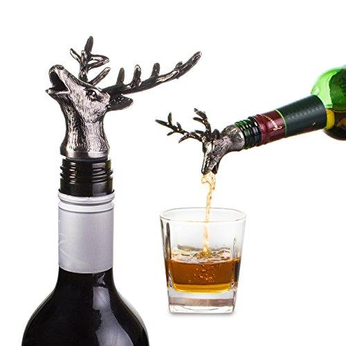 Weinflaschenverschluss und Ausgießer in Hirschform