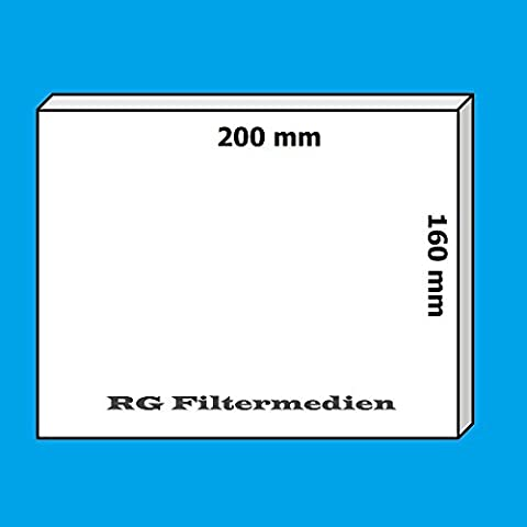 20 Filter/Ersatzfilter für Meltem Vario ClassicLine ab Bj 99 - 200x160 mm - Filterklasse G2