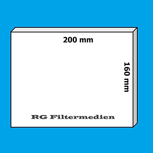 10 Filter Ersatzfilter für Meltem Vario ClassicLine ab Bj 99 - 200x160 mm - Filterklasse G2 - VF-CL V-II VF