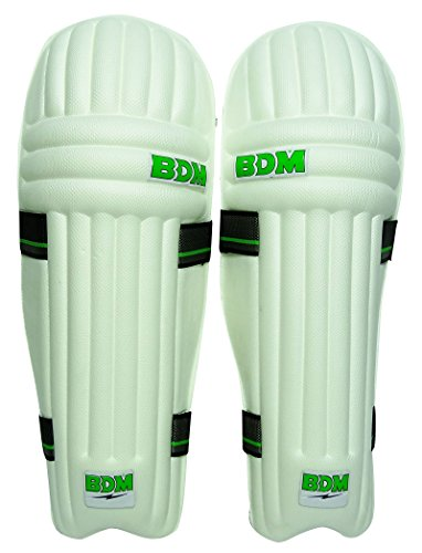 BDM Aero Dynamische PU-Leder-Leg-Schutz Rechtshänder weißen Männer Cricket Batting Pads