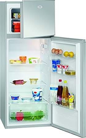 Bomann DT 348Réfrigérateur/143,5cm Hauteur/170kWh/an/Classe d'efficacité énergétique A + + Silber
