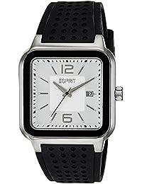 Esprit - ES105841002 - Montre Homme - Quartz Analogique - Cadran Argent - Bracelet Silicone Noir