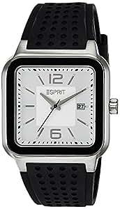 Esprit Herren-Armbanduhr Ventura Silver Black Analog Quarz Silikon ES105841002
