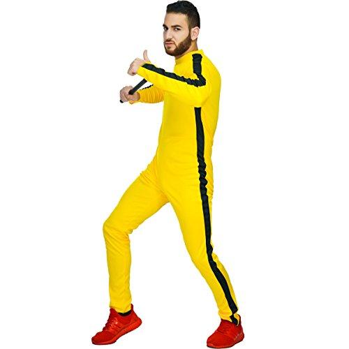 Bodysuit Männer Kostüm - SEA HARE Männer Kungfu Gelbes Kostüm Bodysuit