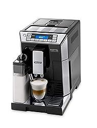 De'Longhi Eletta Cappuccino ECAM 45.766.B Kaffeevollautomat | Digitaldisplay | Integriertes Milchsystem | Lieblingsgetränke auf Knopfdruck | Herausnehmbare Brühgruppe | 2-Tassen-Funktion | Schwarz
