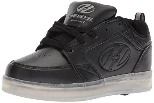 Heelys Premium Lo Triple Black Kids Light Up Roller Shoe (UK 7/EU 40.5)