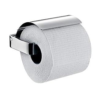 Emco Loft Toilettenpapierhalter, chrom, Klopapierhalter, mit Deckel, Rollenhalter, Papierhalter, Wandmontage - 50000100
