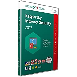 Kaspersky Internet Security 2017 | 3 Devices | 1 Year | PC/Mac/Android | Download