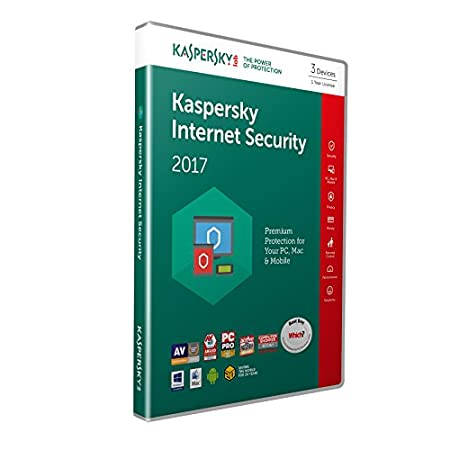 Kaspersky Internet Security 2017 - 3 Devices, 1 Year, Retail Box (PC/Mac/Android)