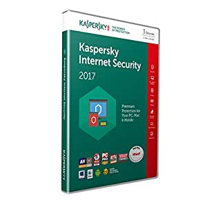Kaspersky Lab Internet Security 2017 Carta di licenza ( 3 dispositivi/1anno)