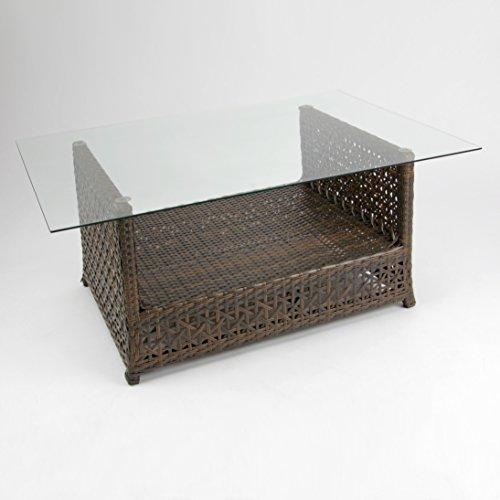 Rattan4Life 4-teilig Florenz Deluxe Polyrattan Gartenmöbel Set, Sofa / Lounge / Gartengarnitur / Kissenbezug, braun / mix / türkis - 6