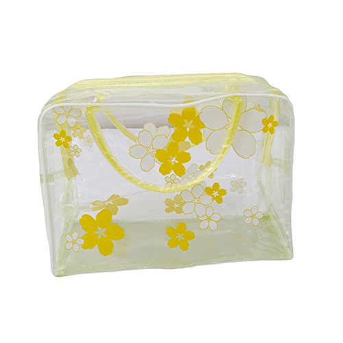 ODN PVC Transparent etanche multifonction sacs cosmetiques Jaune