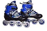 Fashworld Adjustable Shoe in-line Skates - Size 7-9 UK (Black, Blue, Red)