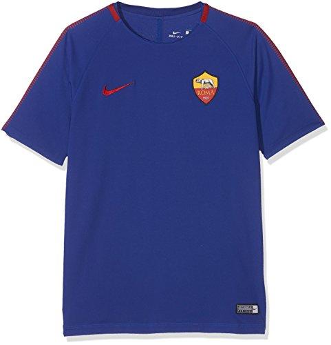 Nike Roma y NK BRT Sqd SS, Camiseta niños, niño, Roma Y Nk Brt Sqd Ss, Deep Royal Blue/Team Crimson, L