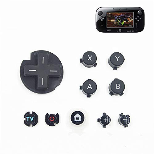 Ersatz Full Tasten Ersatzknöpfe Kit D Pad (Oberfläche in Button Power Button Home für WII U Game Pad Controller (Wii-controller-kit)