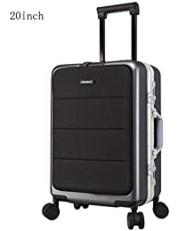 Color : Rose Gold, Size : 22 inches HUANGDA Aluminum Alloy 20//24//26 Inch Metal Suitcase Men and Women Trolley Case Universal Wheel Password Box Luggage