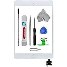 Digitalizador Pantalla táctil frontal para iPad Mini 1 / 2 Blanco 9.7 pulgadas MMOBIEL. Incluye botón de inicio y cable flex + soporte cámara + adhesivos pre instalados + kit herramientas