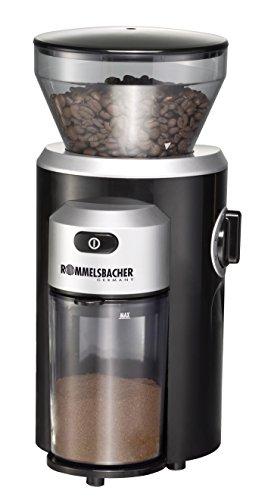 ROMMELSBACHER EKM 300 elektrische Kaffeemühle mit Kegelmahlwerk schwarz-silber