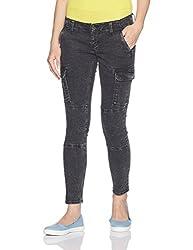 Lee Womens Slim Jeans (L17914248147030028_Uneven Black Cargo_30)