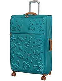IT Luggage Aquatic 8 Wheel Lightweight Semi Expander Suitcase Large Maleta, 80 cm