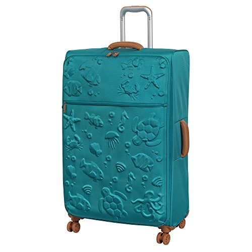 it luggage Aquatic 8 Wheel Lightweight Semi Expander Suitcase Large Koffer, 80 cm, 127 liters, Blau (Scuba Blue)