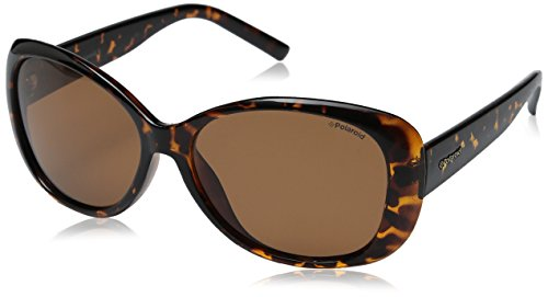 Polaroid Polarized Butterfly Women's Sunglasses - (PLD 4014/S V08 57HE|57|Brown Color) image