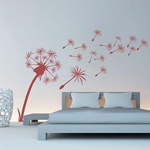Dente di leone-Adesivo da parete, adesivi da parete decorazione adesivo da parete decorativo salotto camera dei bambini camera da letto, light pink, 39 x 25