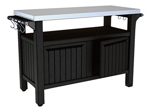 KETER/Chalet-Jardin 12-931336 Grand Buffet Barbecue Résine Anthracite 123 x 54 x 90 cm