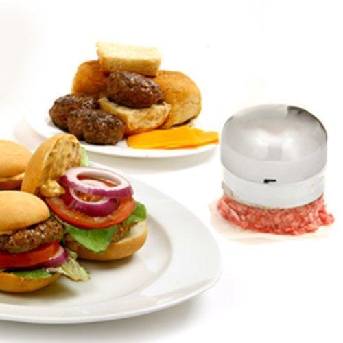 Norpro - Pressa mini per hamburger, argento
