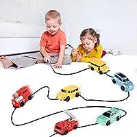 Dailyinshop Enlighten Magic Pen Inductive Car Tanque de Tren para niños Cochecito para niños Draw Lines Induction Rail Car Kids