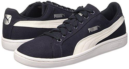 Puma Smash Canvas, Chaussures de Tennis Unisexe Adulte Bleu - bleu