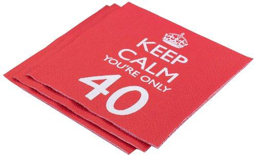 """Neviti - Tovaglioli di carta """"Keep Calm you're only 40"""""""