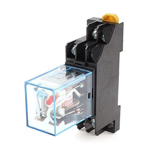 AC 110V-120V Spulenspannung Rote Lampe DPDT 8Pin Power Relay + Socket-Basis 120vac Power Relay