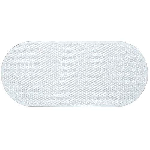 Badematte PVC Gummi Badematte mit Saugnäpfen Badematte Sicher mit Diese Rutschfest Antibakteriell Badewannenmatten,Clear