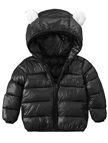 ARAUS Baby Winterjacke Mädchen Mantel Jungen Kapuzenjacke mit Ohren Daunenjacke Steppjacke 0-4 Jahre alt