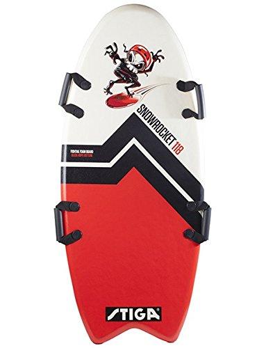 Stiga Kinder Snow Rocket Fishtail Foamboard Red/White, 118 cm