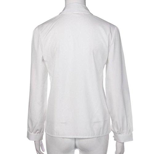 Dinglong Camicia - Casual - Maniche Lunghe - Donna White