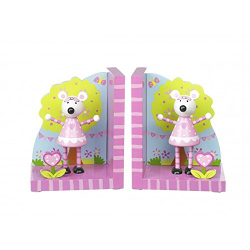 Orange Tree Toys - Pink Mouse - Wooden Bookends